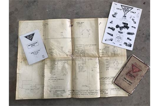 an alvis instruction book an alvis 12 60 firefly wiring diagram etc rh the saleroom com