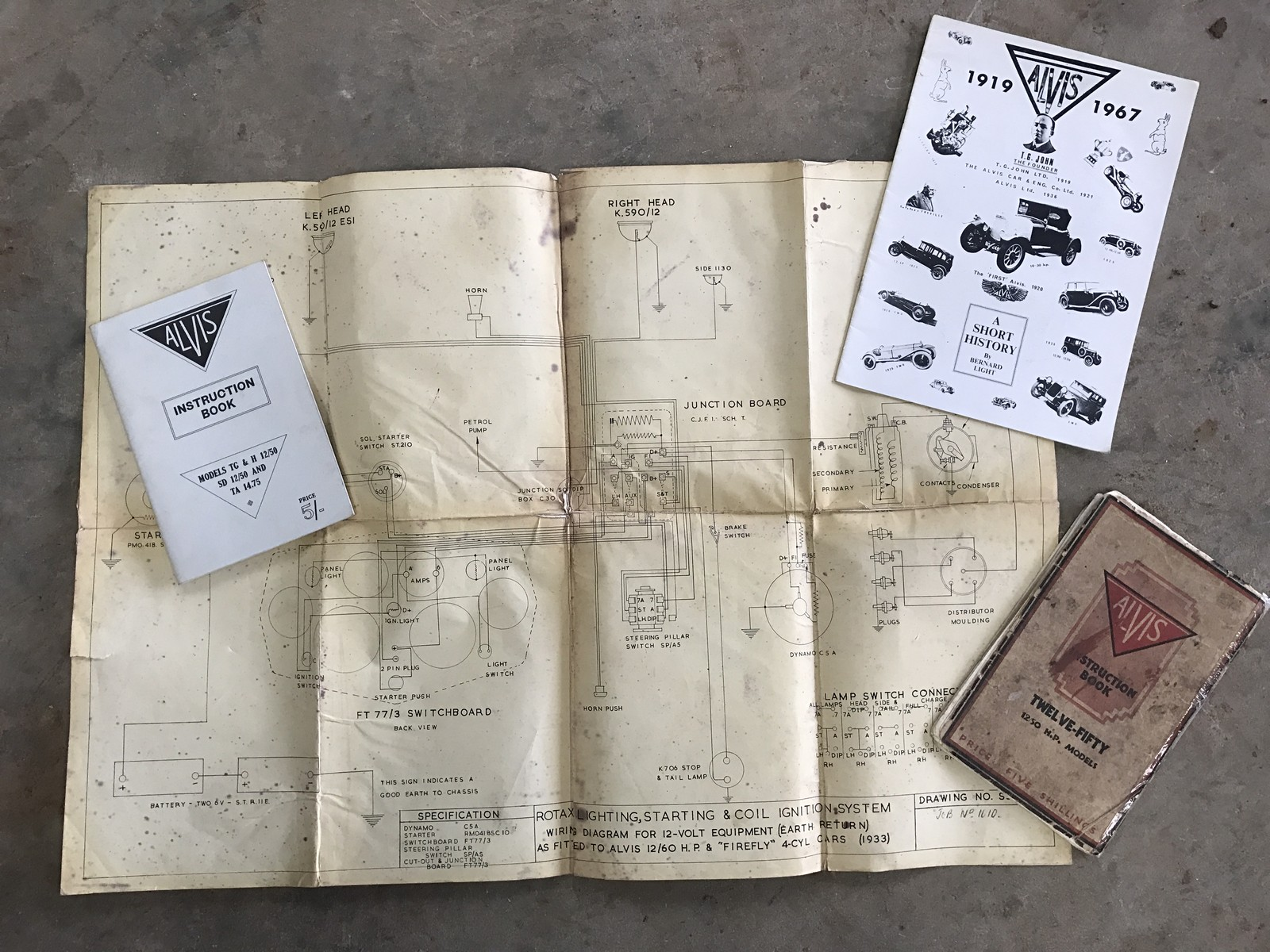 an alvis instruction book an alvis 12 60 firefly wiring diagram etc rh the saleroom com Serenity Ship Firefly Insect Drawing