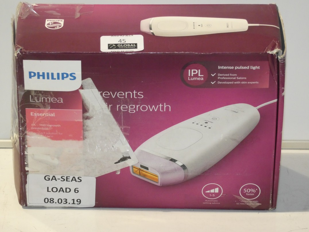 Lot 45 - Boxed Philips Lumia Laser Hair Removal System RRP £155