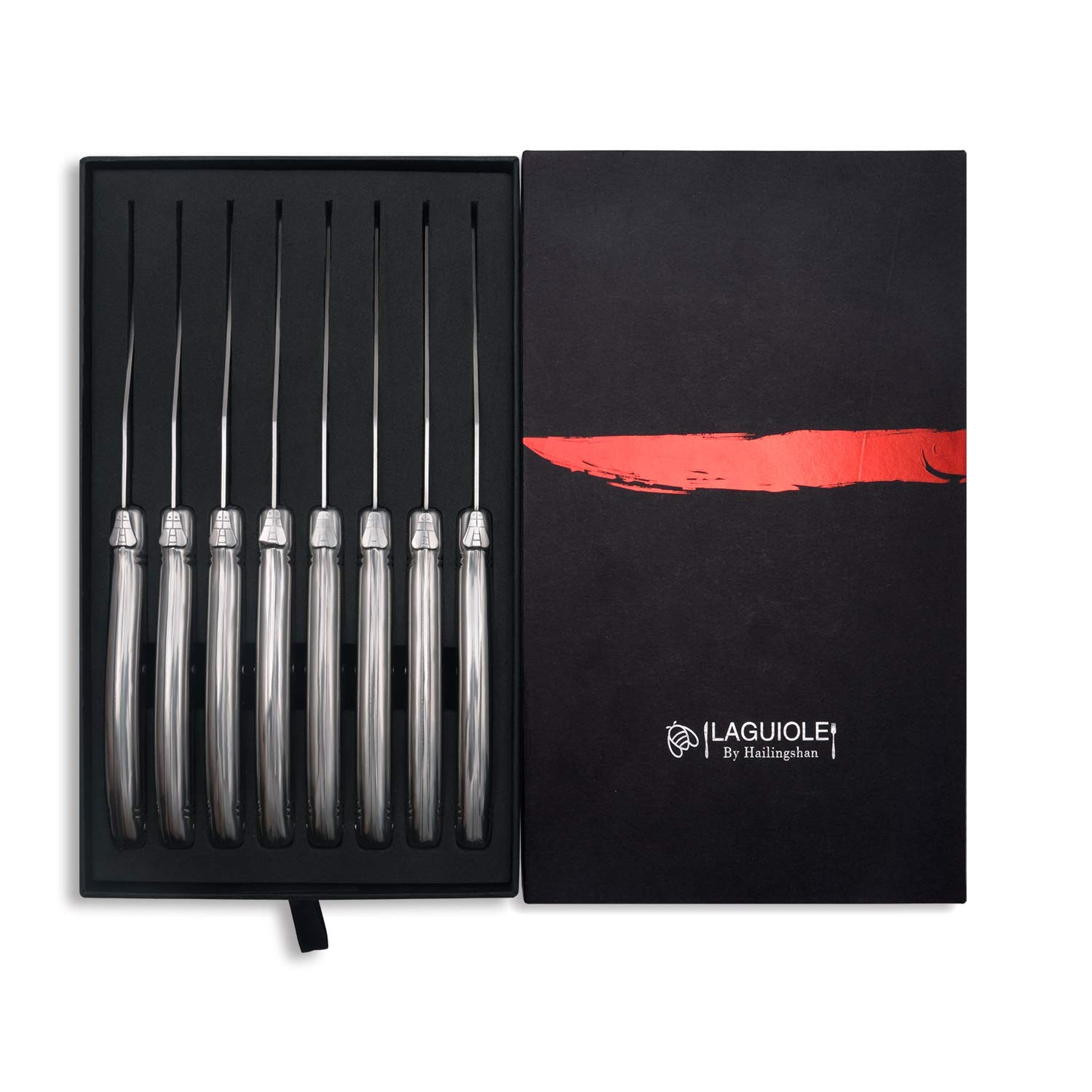 Lot 54 - Boxed Brand New Laguiloe Style By Hallingshan Set of 8 Steak Knifes RRP £49.99