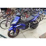 Blue Honda GTR 125 motorcycle
