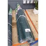 3 rolls of green garden netting mesh