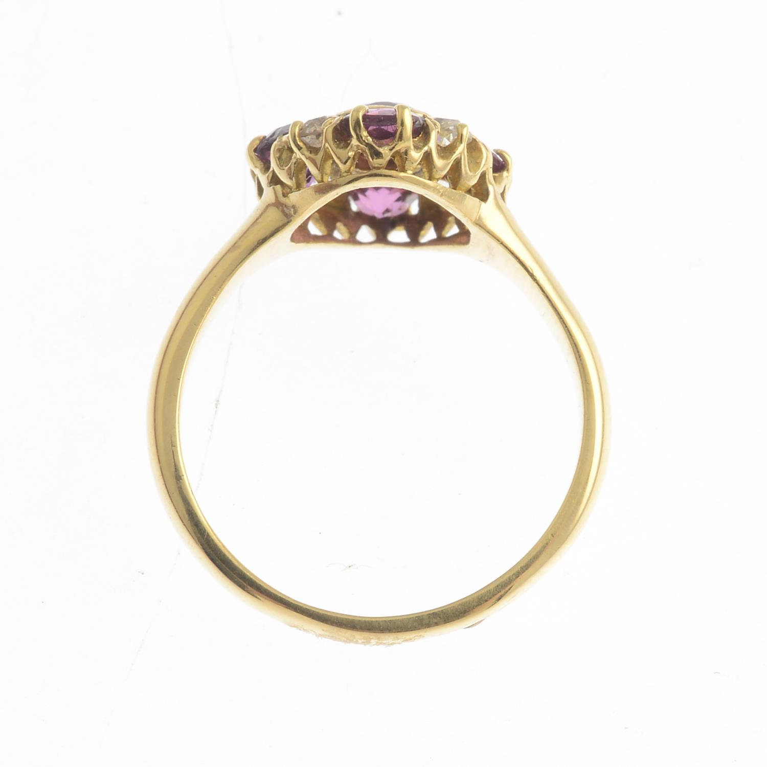 An early 20th century 18ct gold garnet, - Image 3 of 3