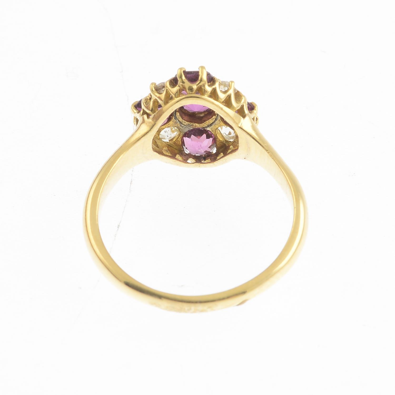 An early 20th century 18ct gold garnet, - Image 2 of 3
