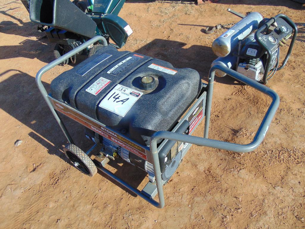 Lot 14a - Briggs & Stratton 5500 watt Generator, s/n 1017261957,