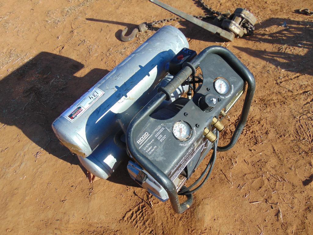Lot 13b - Rigid Air Compressor, electric motor, 5 gallon tank