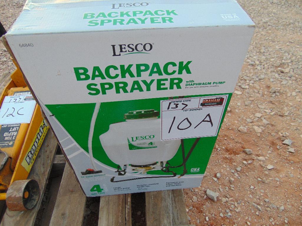 Lot 10a - 4 Gallon Backpack Sprayer