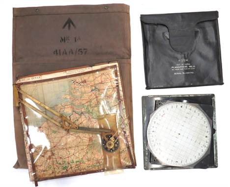 RAF Air Ministry Navigator's Wooden Map Board18 x 18 inch, wooden board.  The front with hinged perspex cover and adjustable,