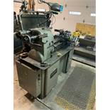 HARDINGE TURRET LATHE, MODEL HTC, 1-HP, 31'' DOVETAIL BED, 1-1/8'' BAR THROUGH SPINDLE, COLLET
