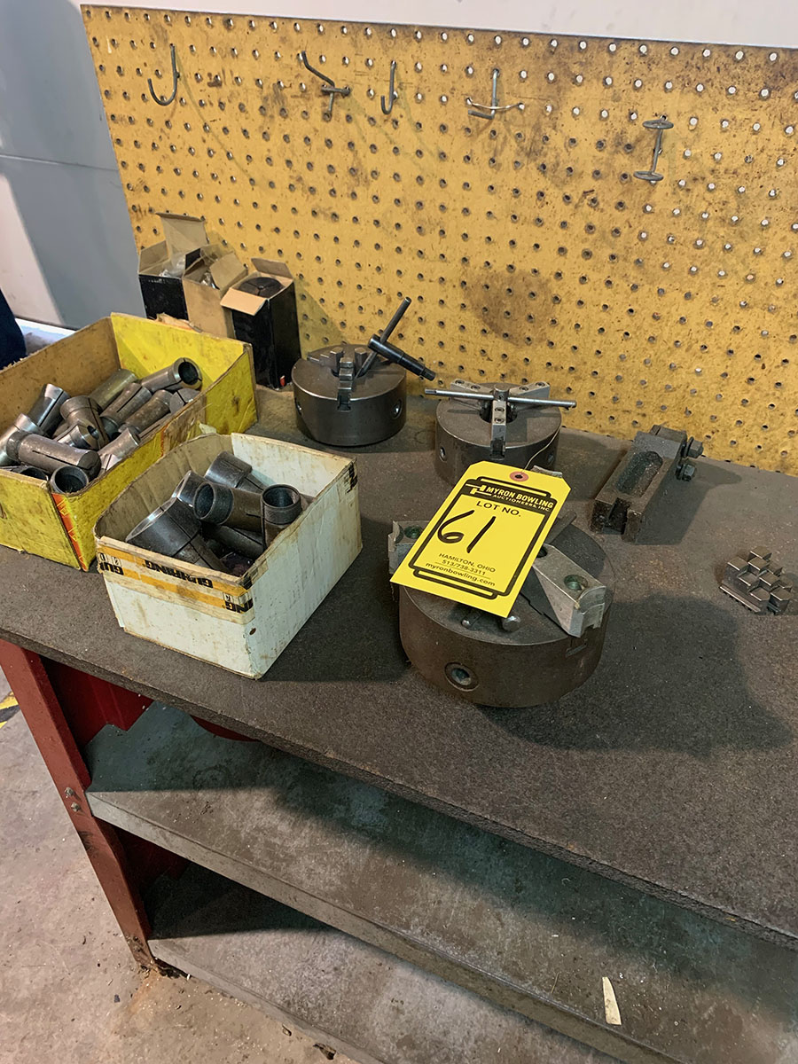 ASSORTED COLLETS AND ACCESSORIES FOR HARDINGE LATHE