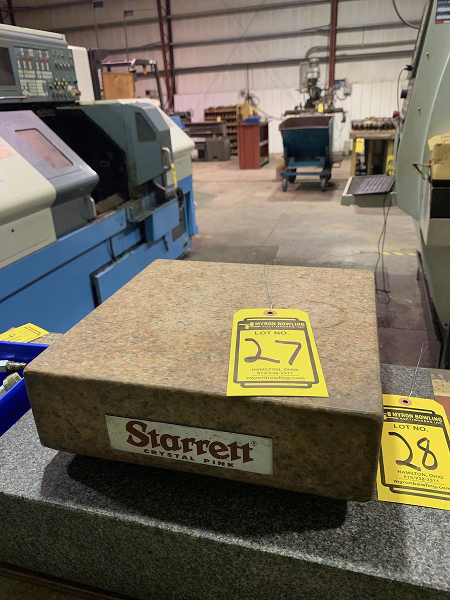 STARRETT CRYSTAL PINK SURFACE PLATE 12'' X 12'' X 4''