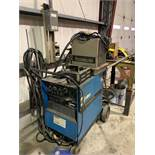 MILLER SYNCROWAVE 250 CC-AC/DC WELDER ON BOTTLE CART W/BERNARD CHILLER, FOOT SWITCH