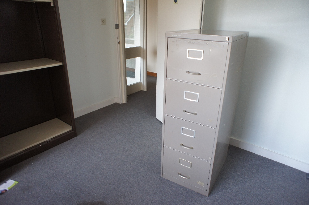 Lot 57 - a quantity of miscellaneous office furniture and small tables etc. (located in room 23, Davey