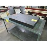 "GRANITE 36""X24""X4"" SURFACE PLATE W/30""X60"" W/STEEL WORK TABLE"