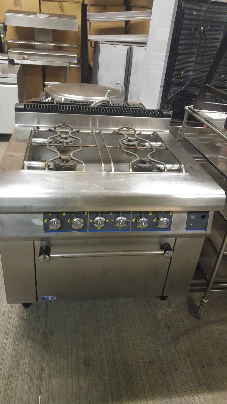 Lot 20 - Bonnet 4 range burner This is the first Range of this heavy duty bonnet 4 range burner is teh