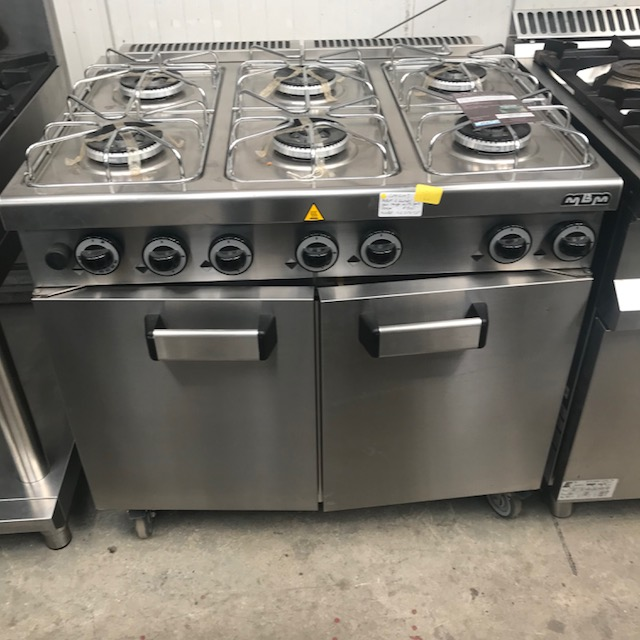 Lot 48 - MBM G6SF972P 6 BURNER GAS COOKER WITH OVEN MBM G6SF972P 6 burner brand new The watertight pressed,