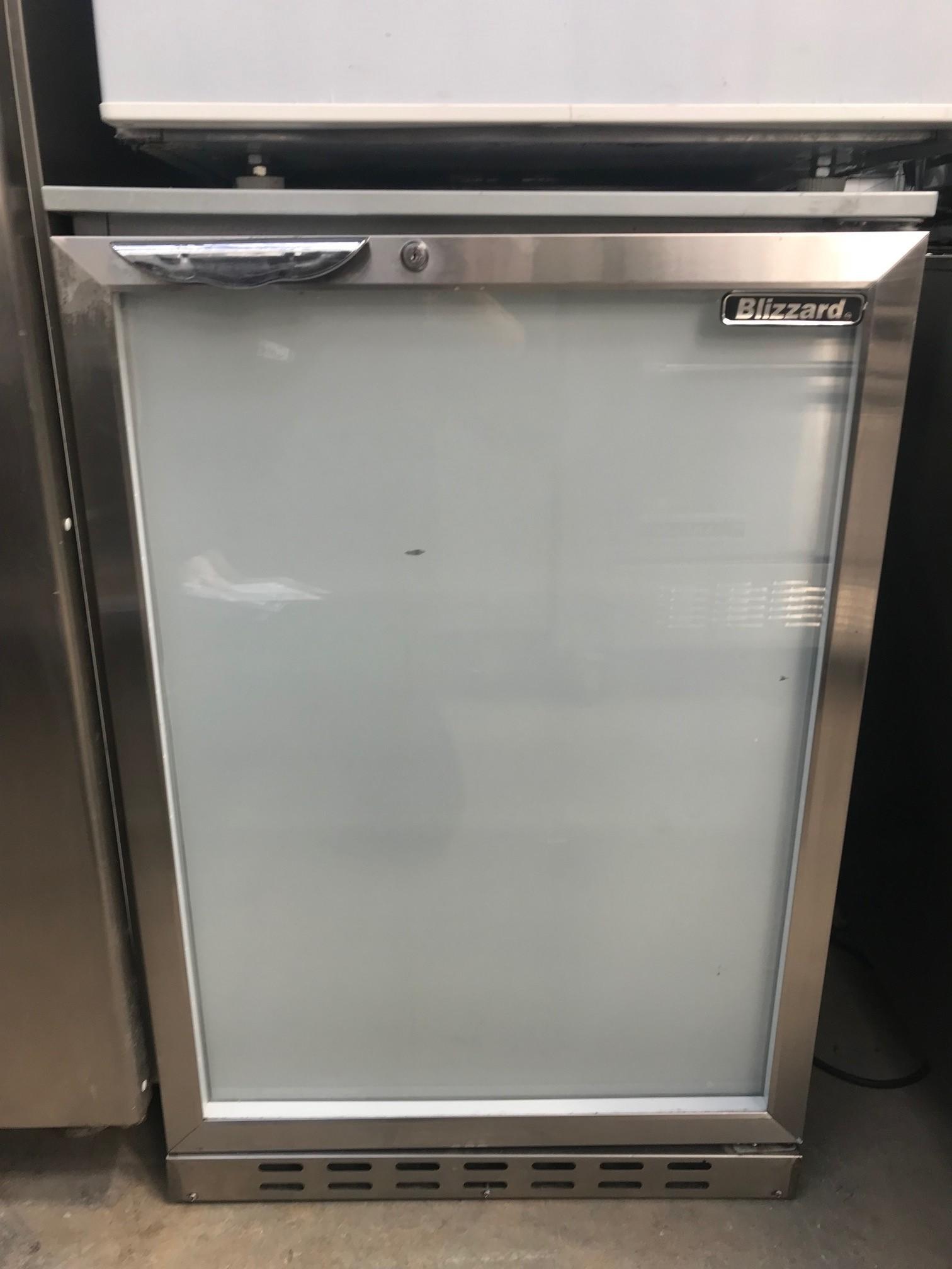 Lot 21 - Blizzard Bz-bar1ss Single door Back bar counter Back Bar Chiller Glass doors that can hold 130