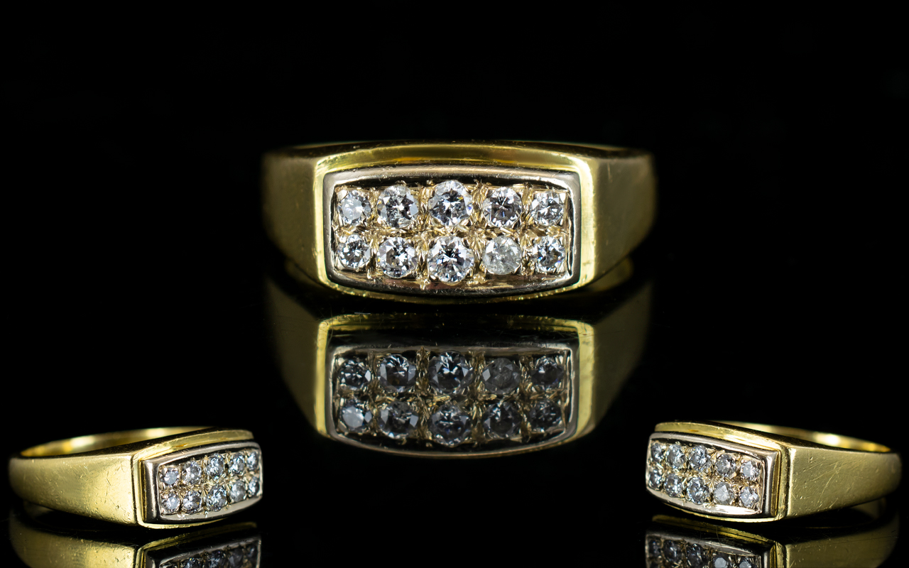 Lot 2 - Gentleman's Nice Quality 18ct Gold Diamo