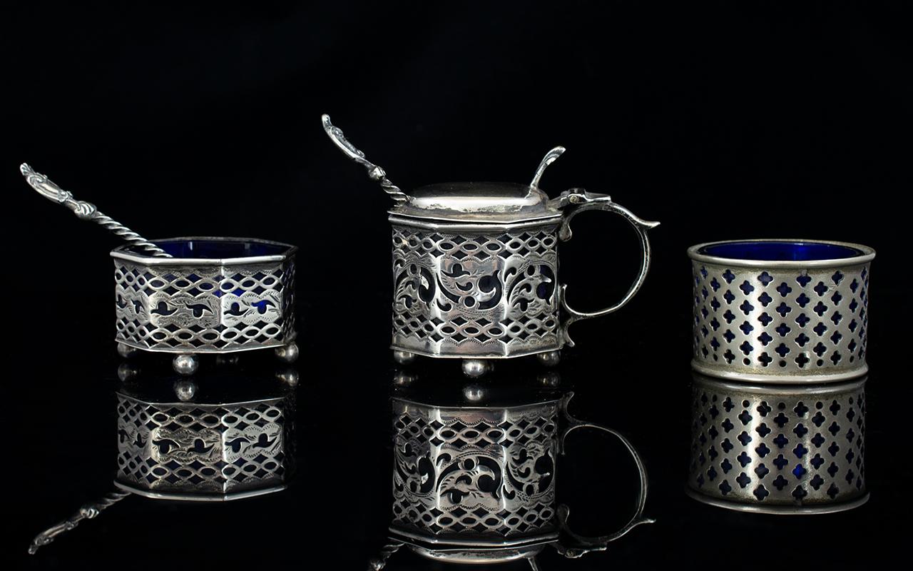Victorian Period Nice Quality Silver Cru