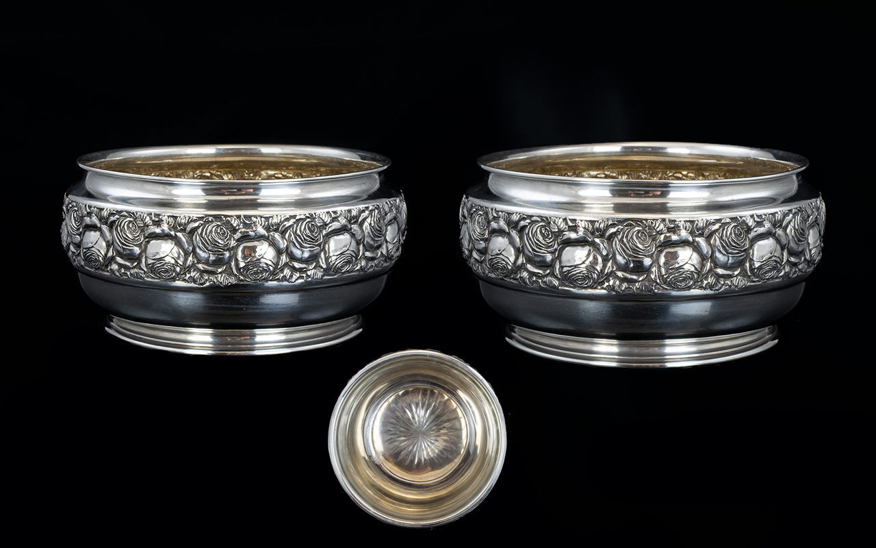 Lot 101 - Austria Fine Pair of Solid Silver Fruit