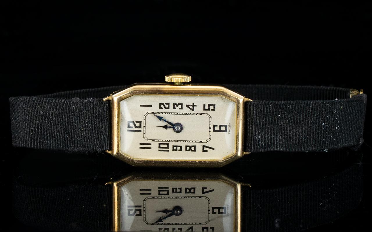 Lot 161 - Stolkace - Art Deco Period 9ct Gold Case