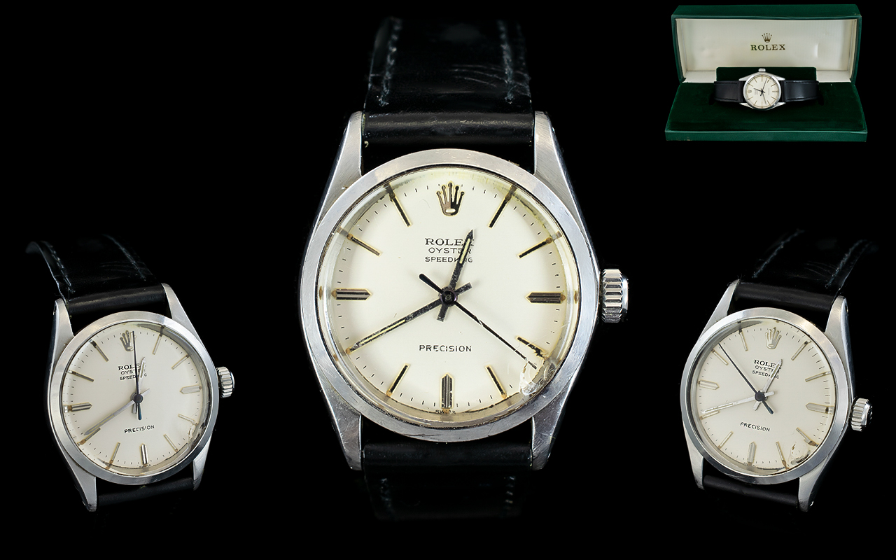 Lot 9 - Rolex Oyster Speed King Precision Steel