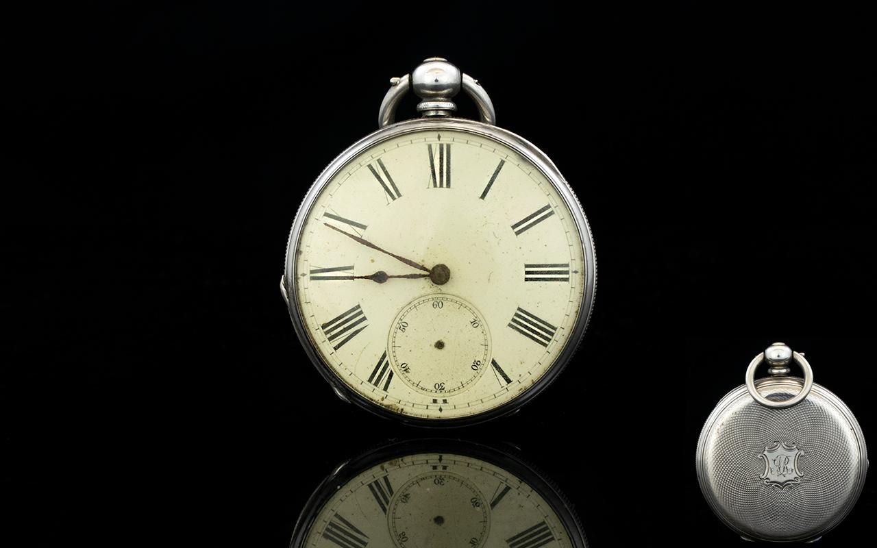Lot 166 - Antique Period Fine Silver - Key-wind Op