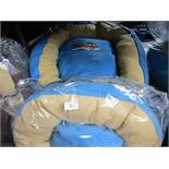 """2x Snoozzzeee Dog - Sky Blue Donut Dog Bed (28""""/71cm) - New - Note one is unpackaged. 1x"""
