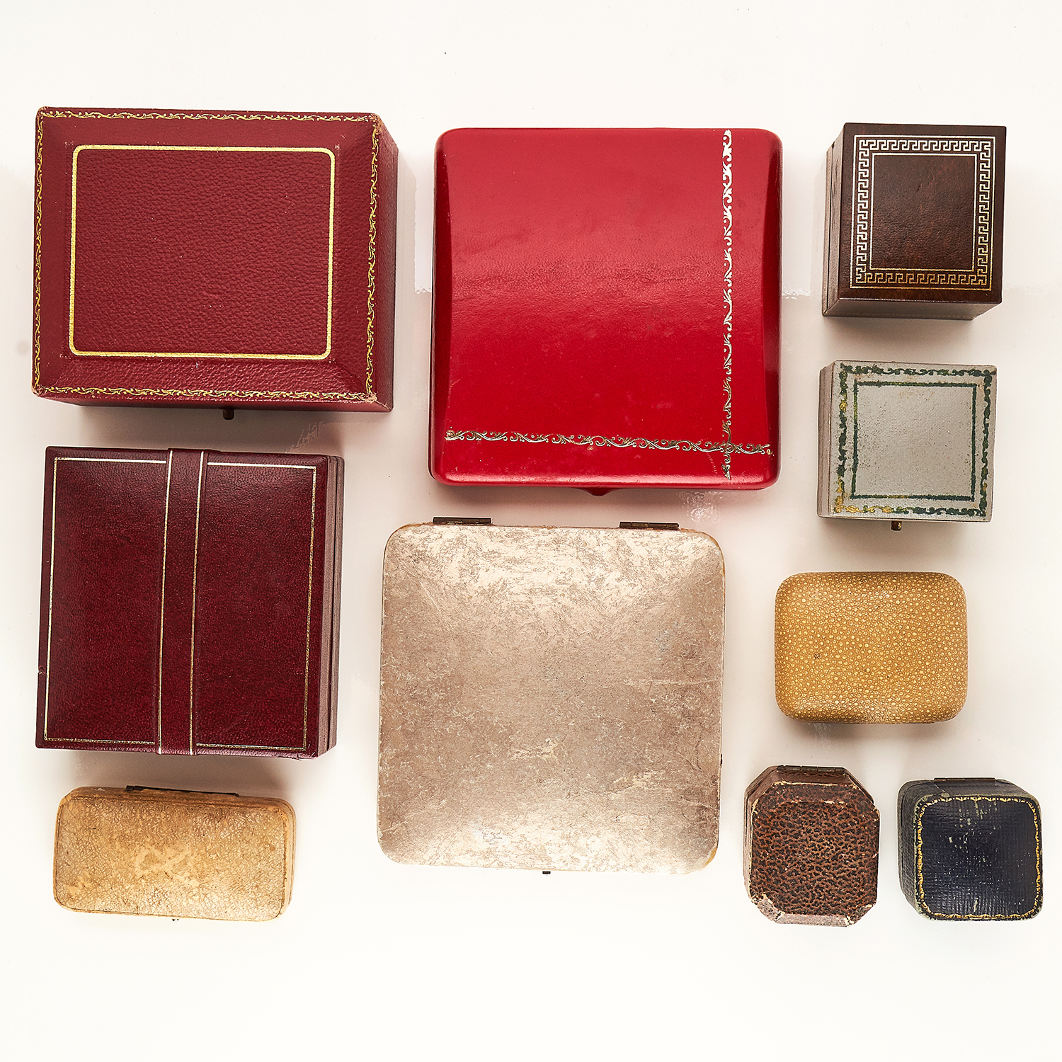 Los 267 - A COLLECTION OF TEN VARIOUS ANTIQUE JEWELLERY BOXES