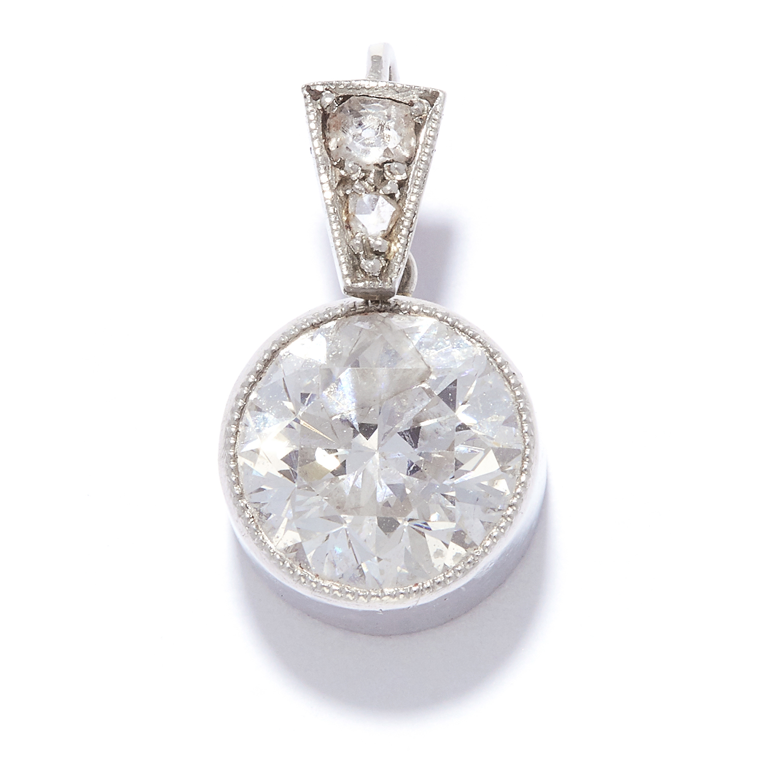 1.60 CARAT SOLITAIRE DIAMOND PENDANT in white gold or platinum, set with a round cut diamond of
