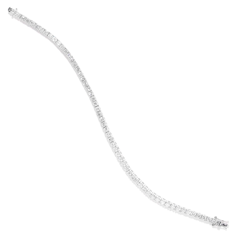 5.60 CART DIAMOND LINE BRACELET in 18ct white gold, comprising a single row of round cut diamonds,