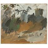 """Maurice Utrillo. """"Le Moulin de la Galette"""". Um 1920"""