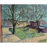 Theo von Brockhusen. Gutshof in Seelow. 1910