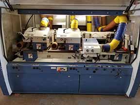 Lot 16 - 2007 WEINIG POWERMAT 1000 CNC MOULDER W/(6) POWERLOCK HEADS, FEED THROUGH, 9-1/16'' WORKING