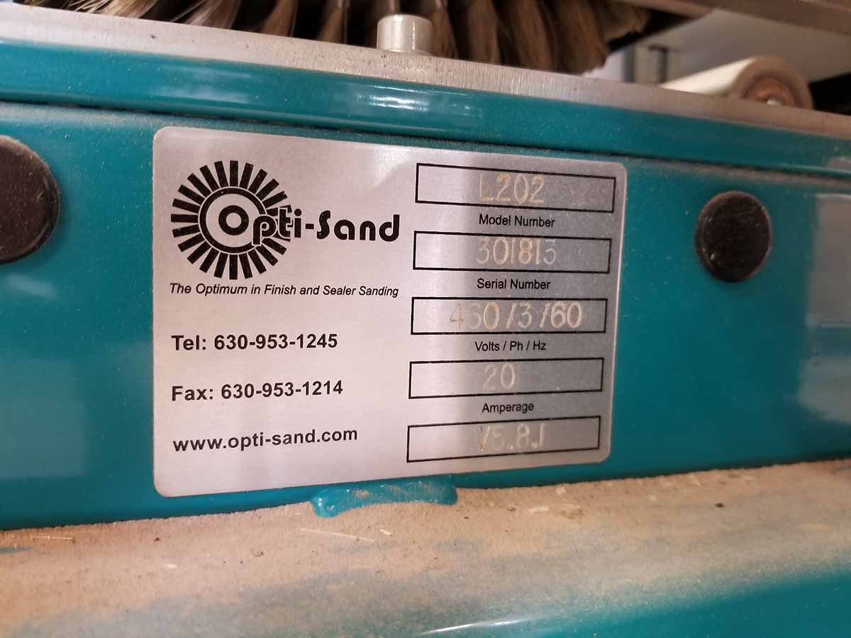 Lot 5 - OPTI-SAND MOLDING SANDER; MODEL L202, S/N 301813 15'' WIDE CONVEYOR FEED, 4-DRUM SYSTEM- (2) 12''