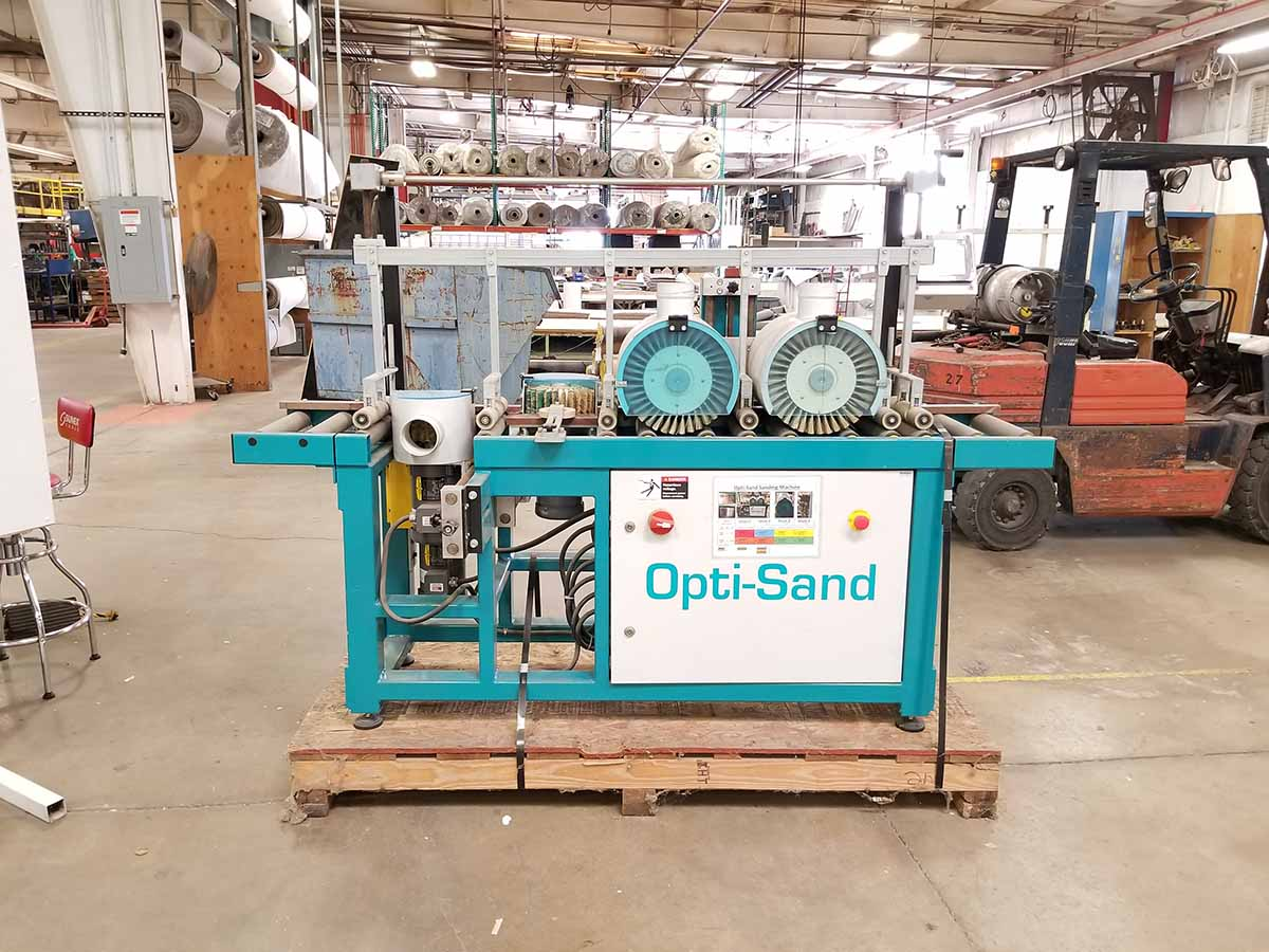 Lot 6 - OPTI-SAND MOLDING SANDER; MODEL L202, S/N 301813B, 15'' WIDE CONVEYOR FEED, 4-DRUM SYSTEM- (2)