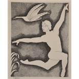 "After T. Aubey, A Print of a Nude, 13"" x 9.5""."