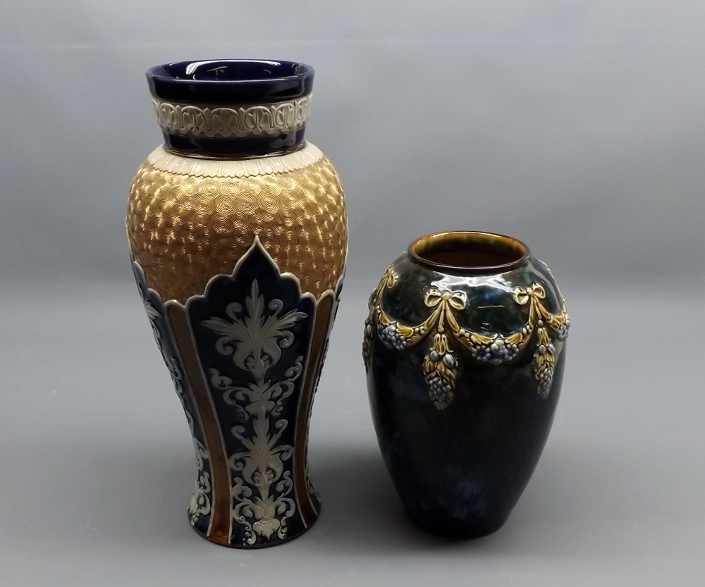 Royal doulton stoneware baluster vase impressed number to base lot 51 royal doulton stoneware baluster vase impressed number to base reviewsmspy