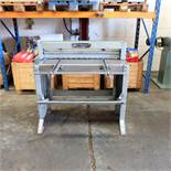 """Edwards Treadle Guillotine 3ft x 16swg. Capacity 36"""" x 16swg. Back Gauge. Front Supports."""