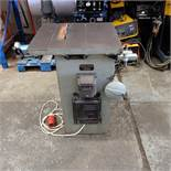 """George Hatch Woodwork Table Saw. Table Size 23"""" x 20"""". Wheel Dia 8""""."""