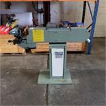 Aceti Model 60 Pedestal Pipe Notcher. Belt Width 90mm. Flat Surface Size 380 x 90 mm.