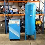 Power Systems PS15P - Rotary Air Compressor with 500L Receiver. Pressure 8 Bar. Capacity 80 cfm.