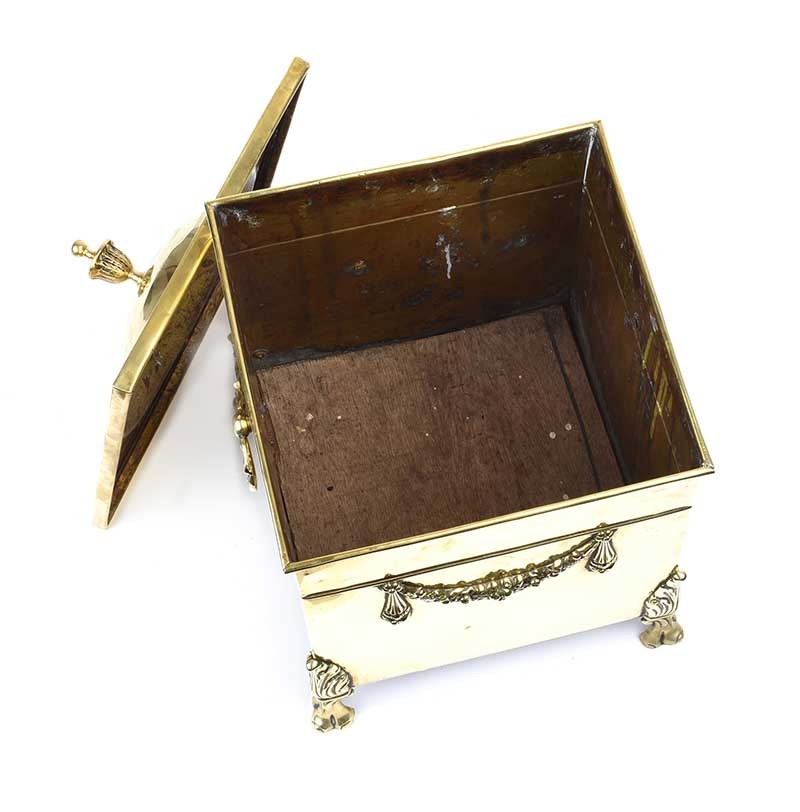 Lot 39 - ADAM'S STYLE BRASS COAL BOX