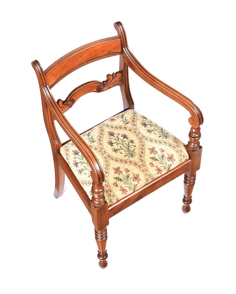 Lot 12 - REGENCY MAHOGANY ARMCHAIR