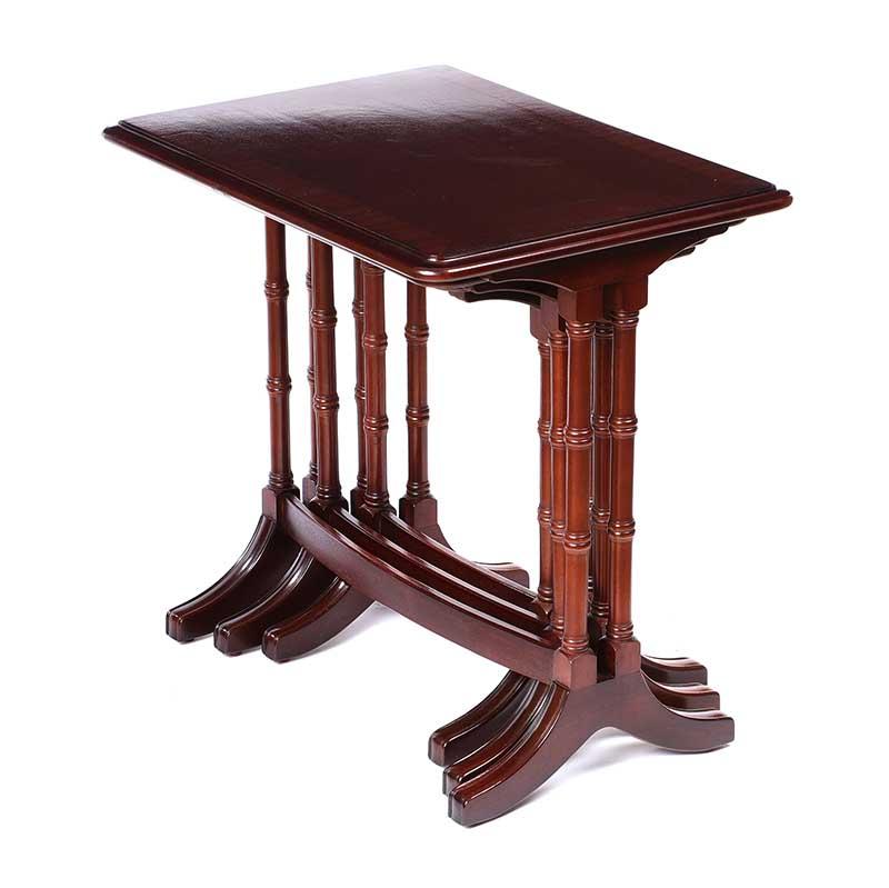 Lot 17 - MAHOGANY NEST OF TABLES
