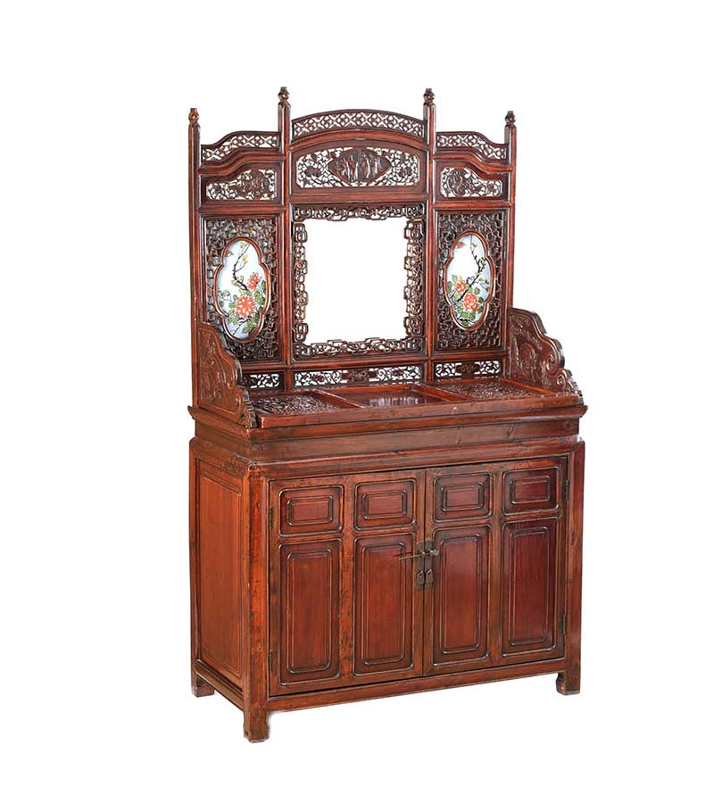 Lot 10 - CHINESE DRESSING STAND