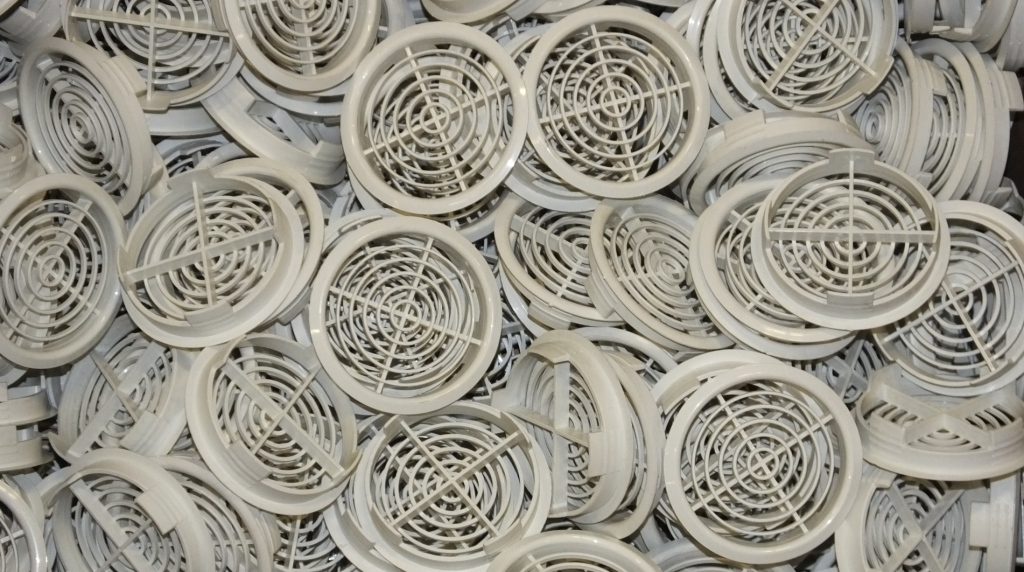 Lot 39 - Approx 200 White Round Air Vents