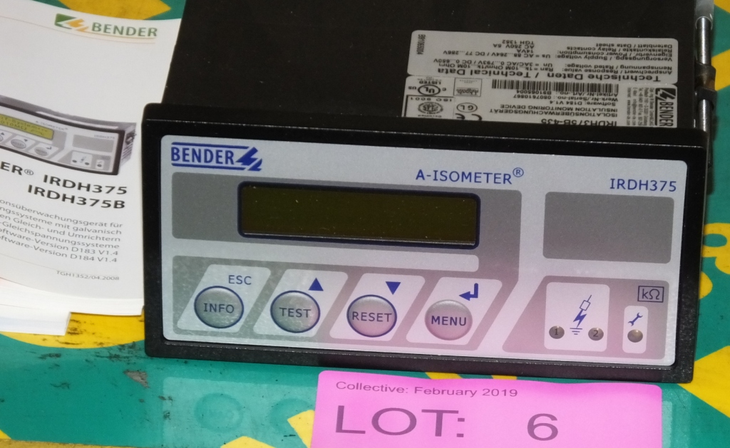 Lot 6 - Bender IRDH3578-435 LIM A-Isometer Insulation Monitor
