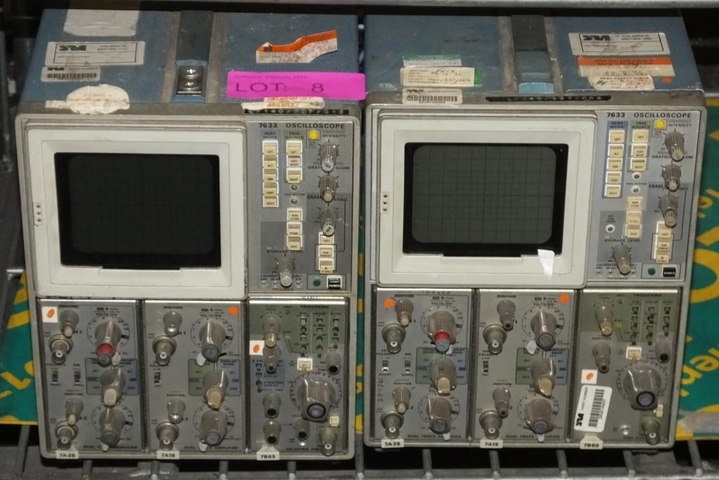 Lot 8 - 2x Tektronix 7633 Oscilloscopes (as spares)