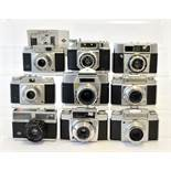 Nine Various Agfa 35mm Cameras.